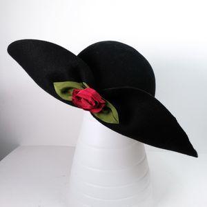 Vintage Deborah Rhodes Mocha Wool Wide Brim Hat
